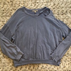 Express One Eleven cut out sweatshirt